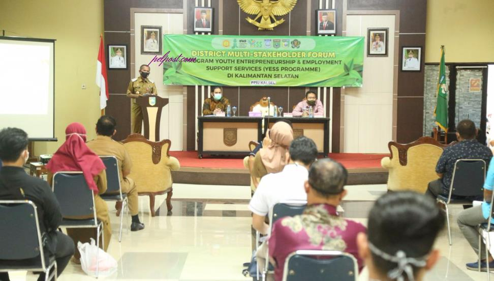 Sosialisasi District Multi-Stakeholder Forum Program YESS di Gedung Sarantang Saruntung, pada Selasa (15/9/2020).